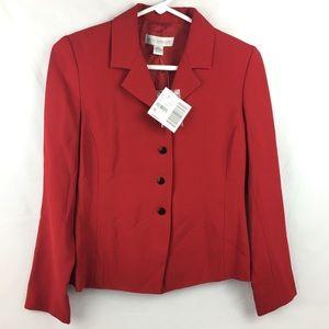 NWT Petite Sophisticate red blazer jacket Size 0